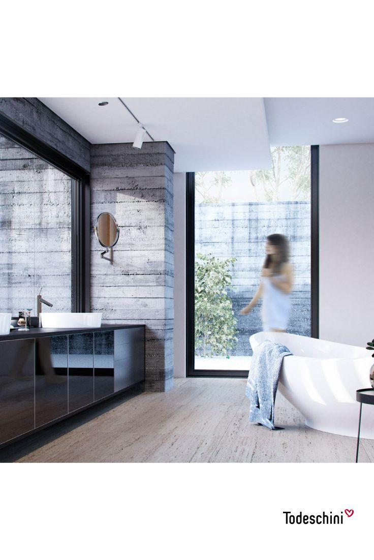 Nuestros baños, lugares íntimos para relajarnos y disfrutar del descanso. Diseños modernos, amplios y con estilo que nos hacen vivir una experiencia inolvidable. #Diseñodeinteriores #Decoración #Todeschini #ambientes #mueblesamedida #arquitectura #baños