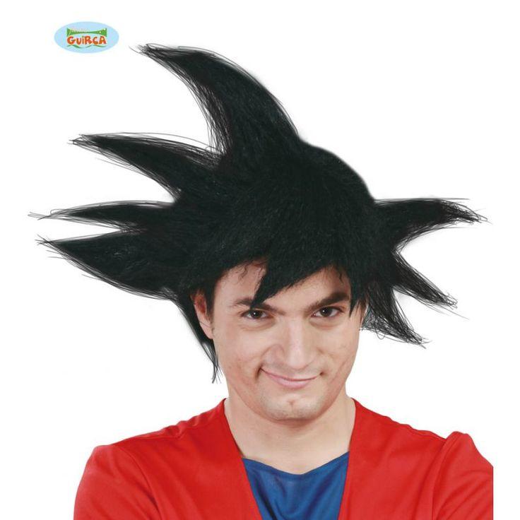 Cette perruque reprend la coupe du personnage de Sangoku dans Dragon Ball Z. Elle sera parfait pour finaliser votre déguisement de Super Saiyans!