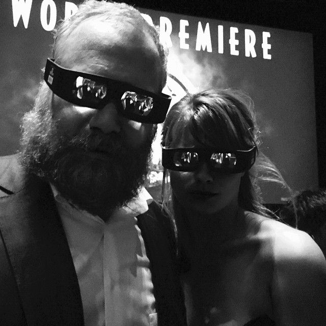 @leilageorge and I, our 3D glasses in place and ready to go. #jurassicworld Photo by Carin van der Donk