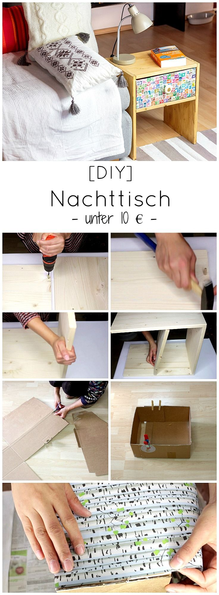 die besten 25 diy nachttisch ideen auf pinterest nachttisch selber bauen nachttisch design. Black Bedroom Furniture Sets. Home Design Ideas