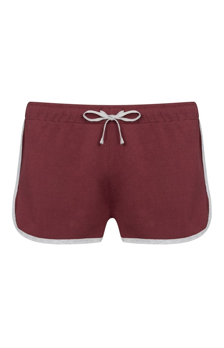 Primark - Red Heather Jersey Running Shorts