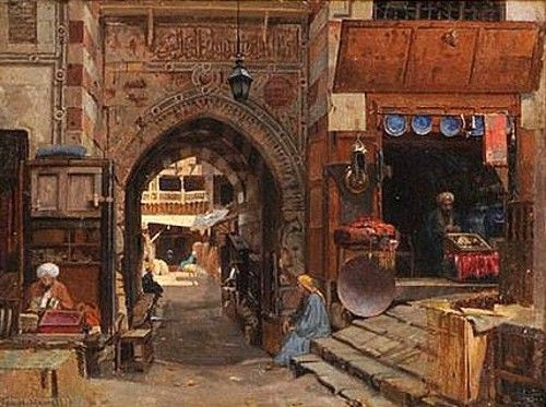 George Henry Yewell (1830-1923) - Entrance to the Old Slave Market, Cairo