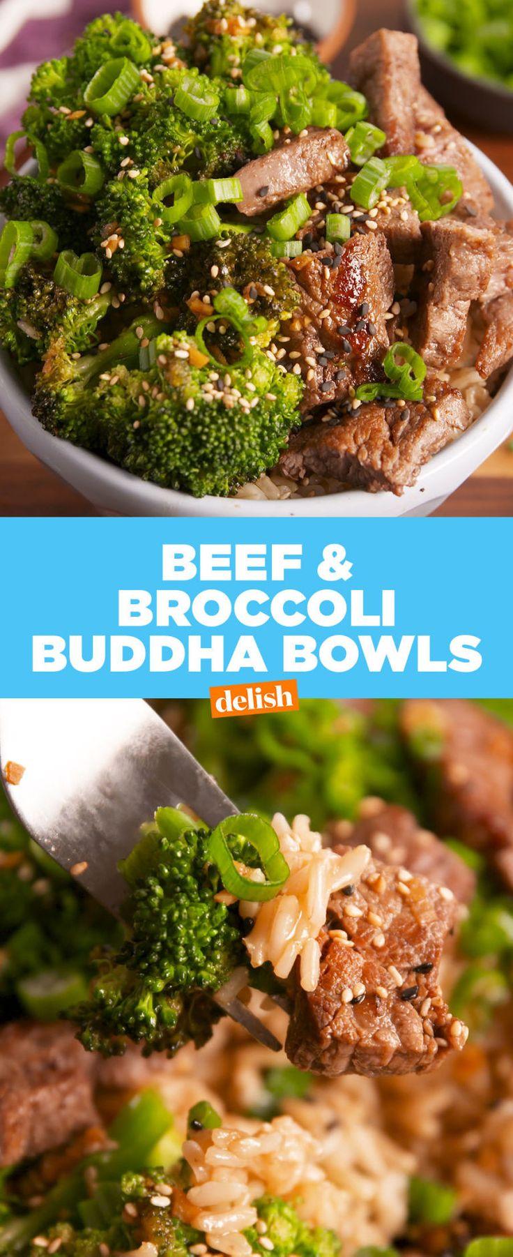 Beef & Broccoli Buddha Bowls