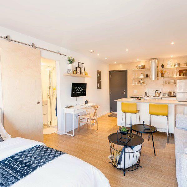Top 60 Best Studio Apartment Ideas Small Space Designs Small Apartment Interior Studio Apartment Design Apartment Interior