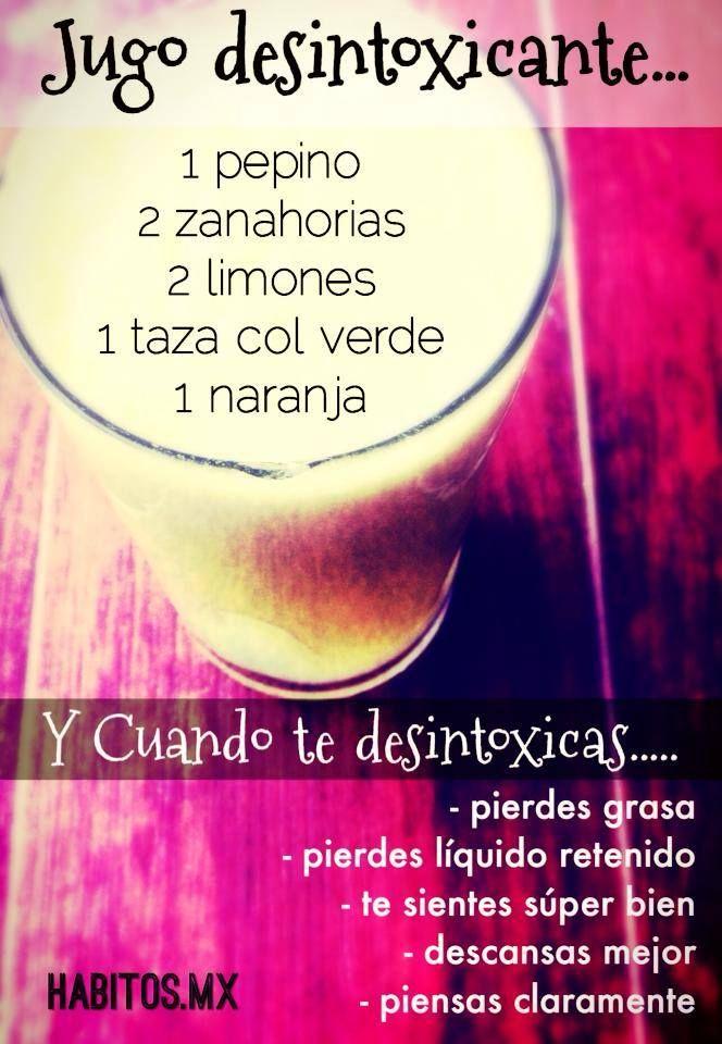 #Jugo desintoxicante #superalimentos #dieta #nutritivo #salud #saludable #receta #nutricion #alimentacion #infografia #bebidas