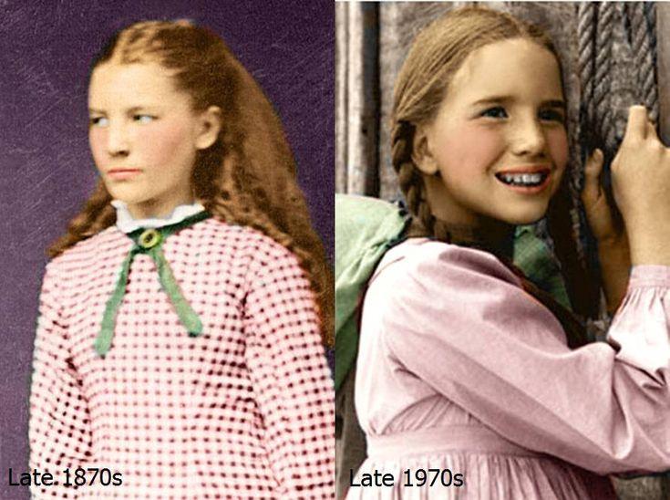 The Real and TV Laura Ingalls by Livadialilacs.deviantart.com on @deviantART