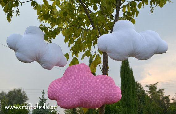Cloud pillows set of two fabric clouds nursery by CraftaholicShop, €45.00
