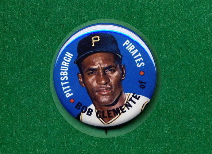1967 Baseball TEST Disc RP **PIN** Roberto CLEMENTE Pirates Pittsburgh