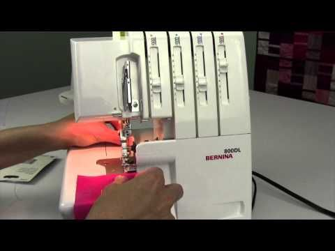 Bernina 800DL Serger 31 French Ribbon with the Cording Foot - YouTube