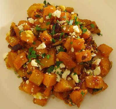 Maple & Browned Butter Squash with Pecans and Blue Cheese | Recipe