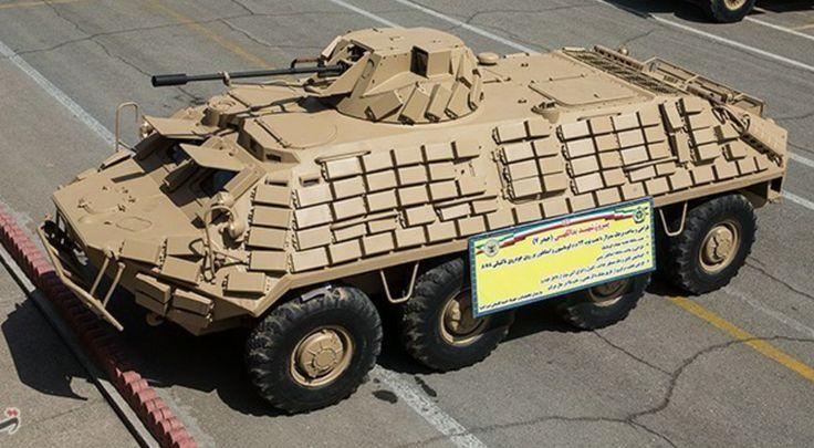 Heydar77 upgrade iraniano del BTR-60 con potenziamento della protezione e dotato di torretta a controllo remotomade in Iran armatacon un cannone da 23mm