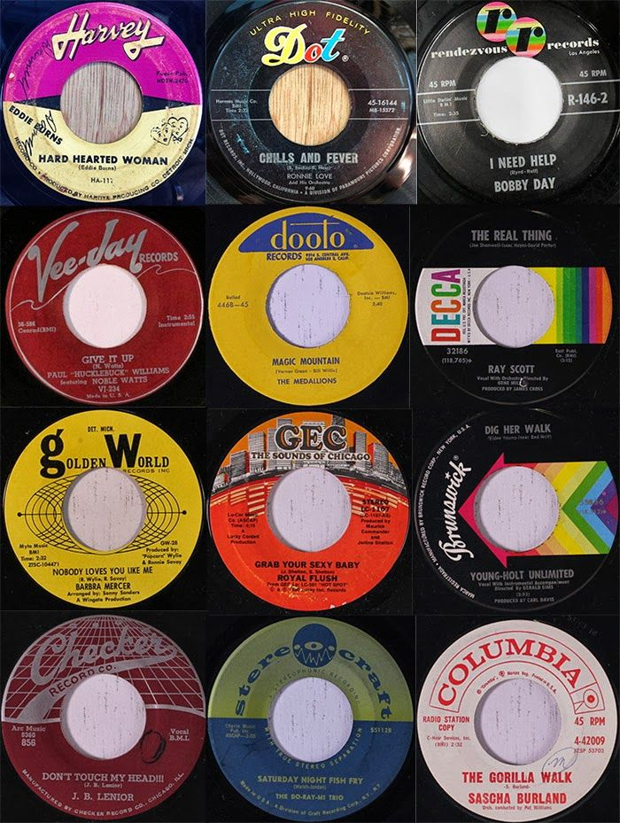 60s Rare Soul Independent Record Label Graphics Music