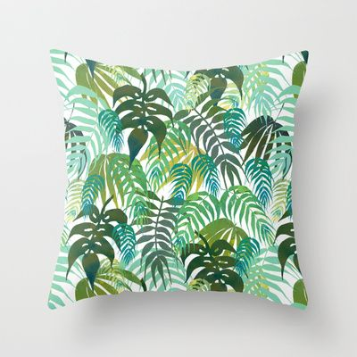 LOST - In the jungle Throw Pillow by SchatziBrown #tropical #pattern #jungle