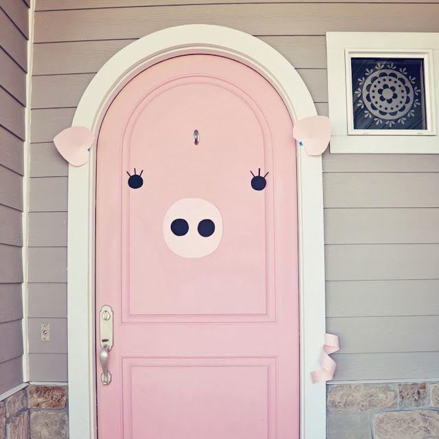 pink door into a pig