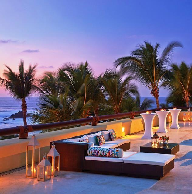 Your twilight terrace awaits at Four Seasons Resort Punta Mita.