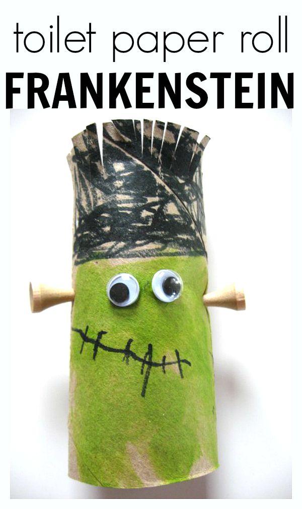 FRANKENSTEIN CRAFT toilet paper roll frankenstein craft for halloween