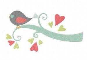 Free Bird on a Love Limb Machine Embroidery Design
