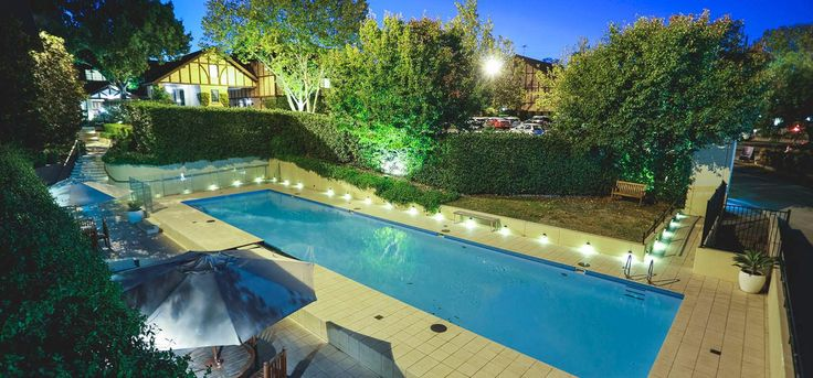 Sydney hotel - our pool at night time -  just divine!
