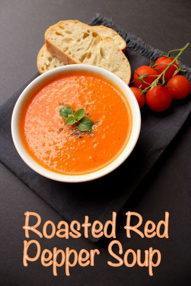 I Cannot Get Enough Of This Soup! It's Simple And So Delicious.Roaster Red Pepper Soup #vegan #soup Find Here : http://fitgirlshabits.com/roasted-red-pepper-soup/