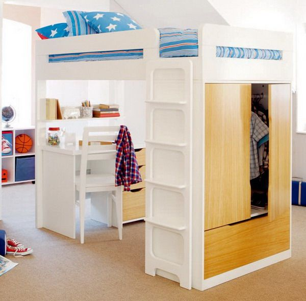Bunk Bed With Desk And Sofa Bed Woodworking Projects Amp Plans