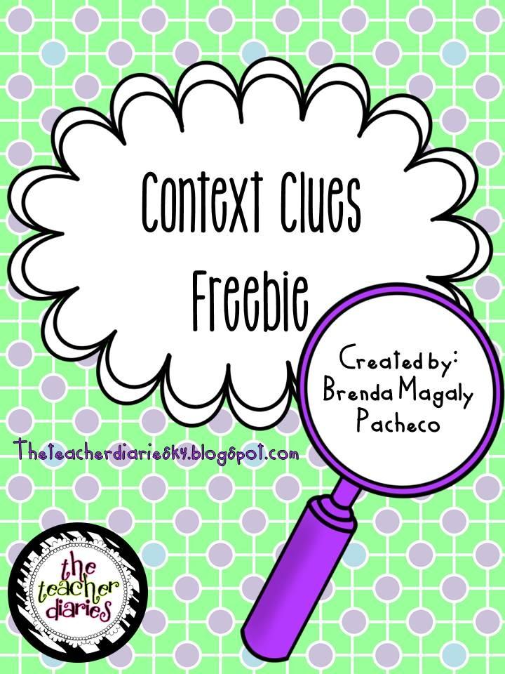 The Teacher Diaries: Context Clues Freebie