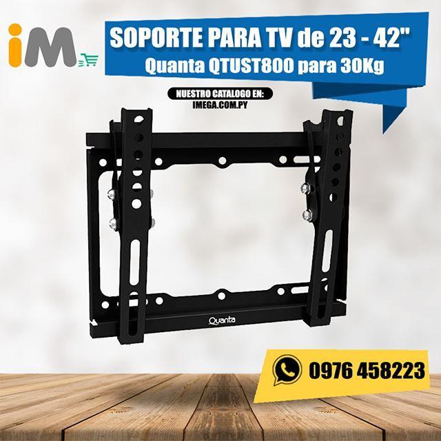 """MIRA NUESTRO CATALOGO EN: www.imega.com.py Soporte para TV LCD de 23 - 42"""" Quanta QTUST800 de 30Kg Precio: Gs. 50.000 Consultas al 0976458223 Mas información del producto aquí:  http://imega.com.py/categoria-producto/tv-y-video/accesorios-de-tv-y-video/ #imegapy #imegapy #imegapy"""