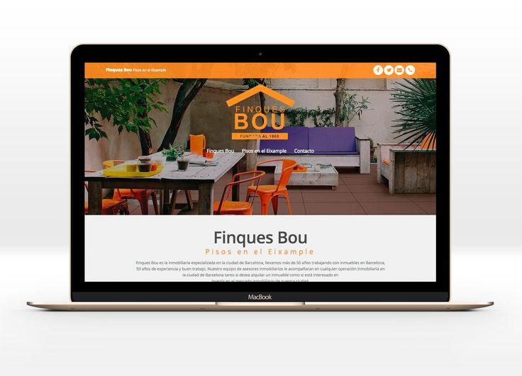 Microsite para Finques Bou - Pisos en el Eixample #laende #web #immobiliaria #eixample #barcelona