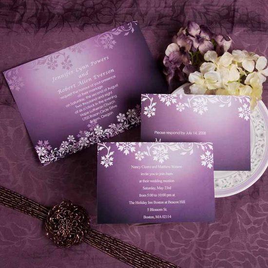 inexpensive vintage purple wedding invites with damaskhttp://dress.vponsale.co.uk/blog/get-a-fantastic-purple-wedding/?pin=bouquetdemariage