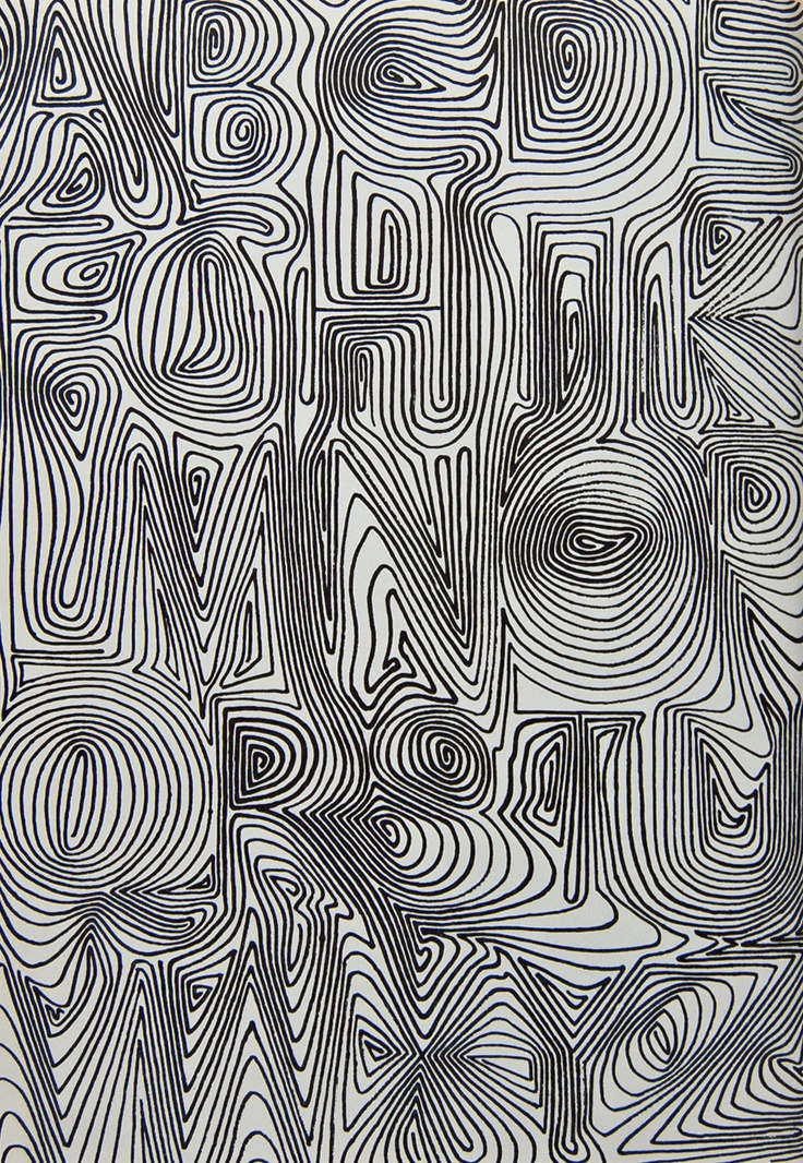 """David Kindersley, U.K., from 1969 from """"Variations on the theme of twenty-six letters"""""""