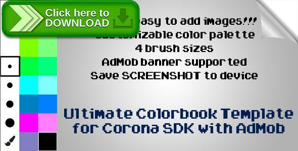 [ThemeForest]Free nulled download Corona SDK Ultimate Colorbook with AdMob from http://zippyfile.download/f.php?id=41022 Tags: ecommerce, android color app, app for child, app for children, colorbook, colors, corona sdk, Image Color, image drawing, ios color app, ios kid game, kids coloring app, paintbrush, painter, picture color app, ultimate colorbook