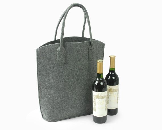 Elegant and Casual Felt Bag Wine Tote Shoulder Bag Shopping Bag Handbag Storage Bag Fashion Design Everyday Bag E980-MGra01  sc 1 st  Pinterest & 14 best wine bag images on Pinterest | Shopping bags Felt purse and ...