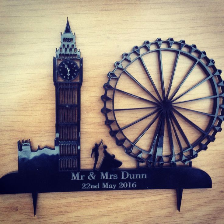 Personalised London Wedding Cake Topper By Laseredwithlove On Etsy Https Www