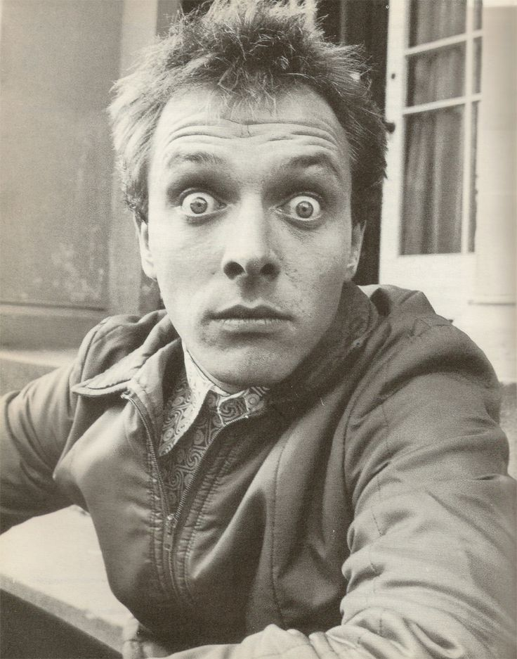 Rik Mayall. RIP, spent my youth laughing my ass off at this guy, can't believe it :(