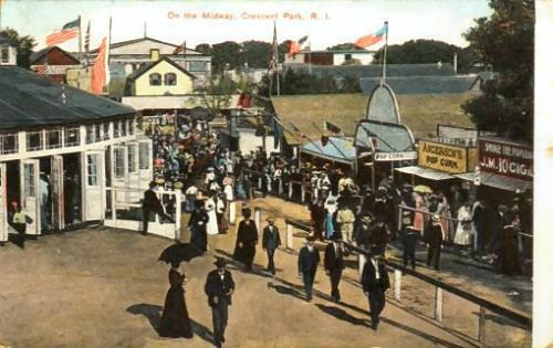 Crescent Park - Riverside, Rhode Island - (1886 - 1979) Constructed by Charles Boyden - The Carousel (1895) by Charles Looff is all that's left of what was once the largest amusement park in New England.