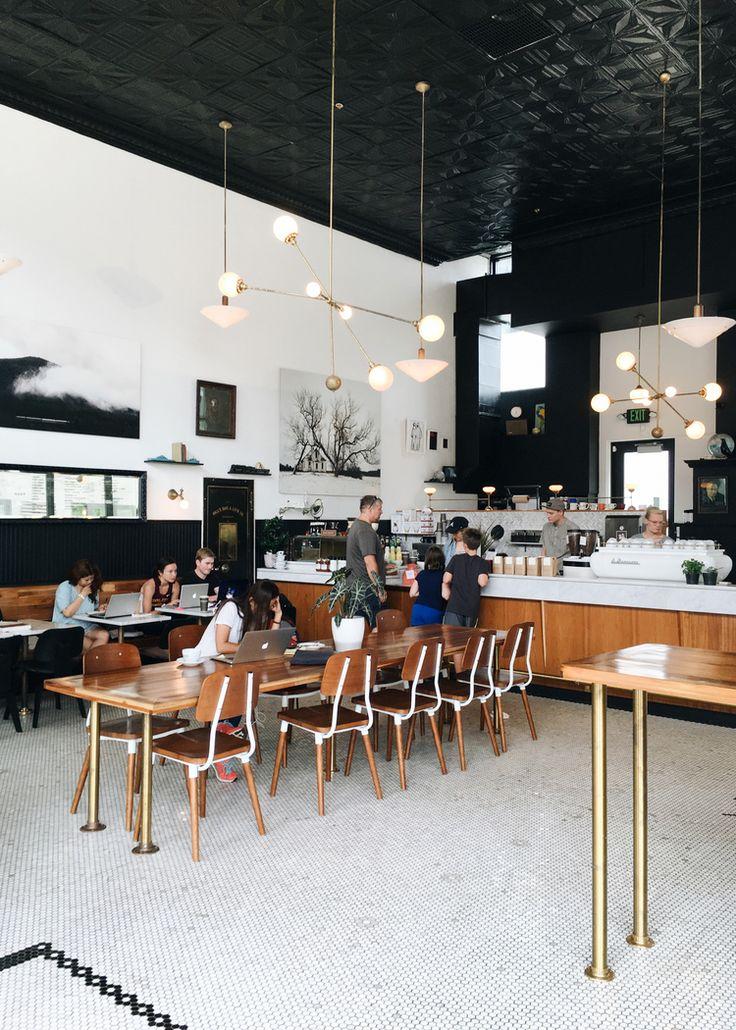 Chic coffee shop interior in North Loop, Minneapolis | Spyhouse Coffee | Photo: Natasha Lee