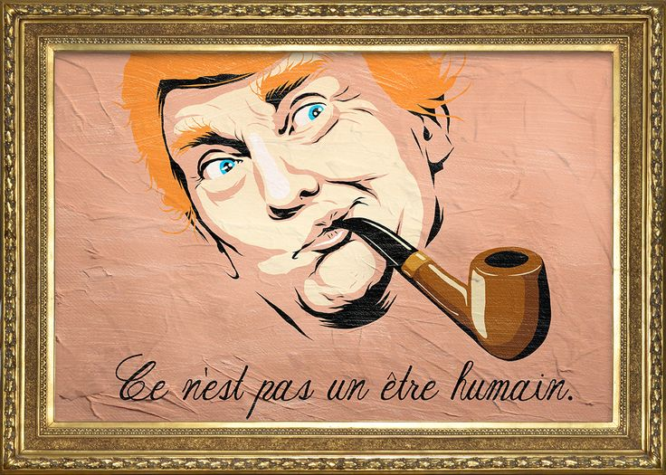 Trump X Magritte: The Surrealist Series #trump #renemagritte