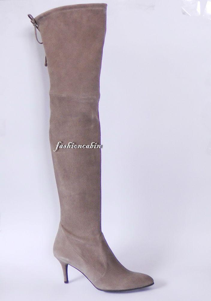 1c796bd963f New Stuart Weitzman Tiemodel Suede kitten heel Over t Knee Boot~Taupe Topo  US8.5  StuartWeitzman  OverKneeBoots  CasualDressOutdoorPartyWork