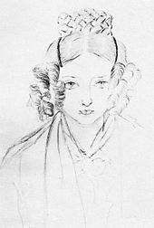 Queen Victoria was quite an artist. This is a self-portrait done in 1835