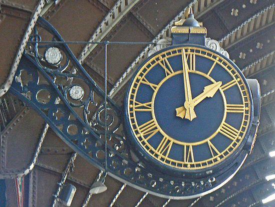 The Station Clock At York Railway Station