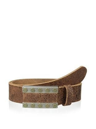 65% OFF Streets Ahead Men's Crackled Belt (Brown)
