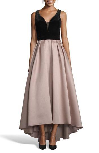 Xscape Mikado Velvet Bodice Ball Gown  eea0ba6a53