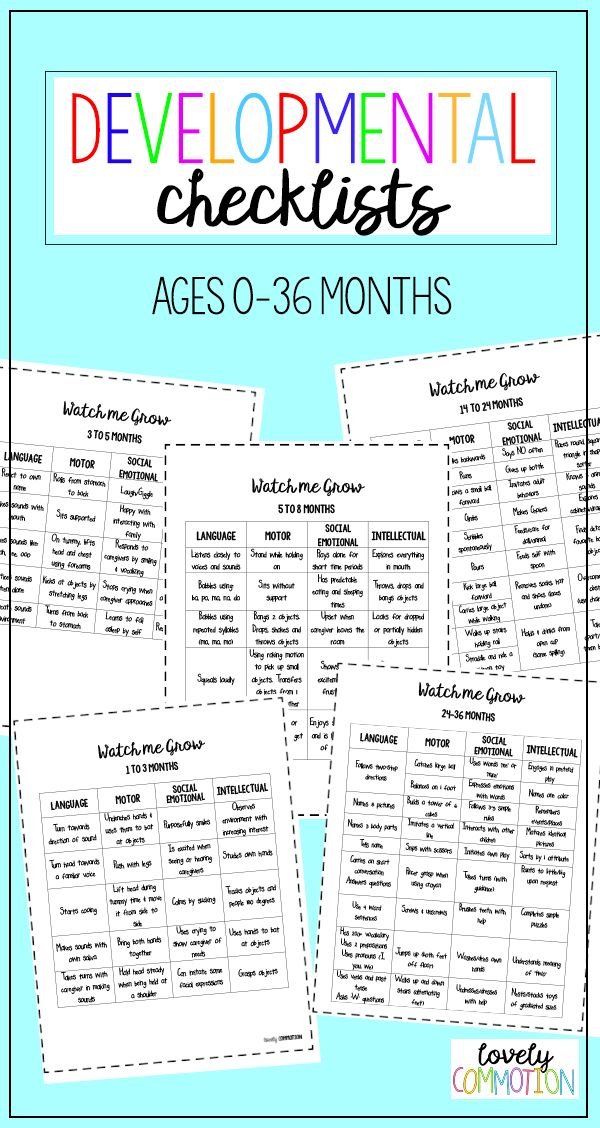 developmental milestones checklist
