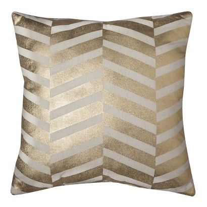 One metallic pillow in living room