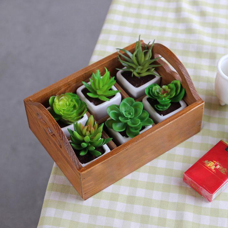 DIU # Fontes Do Jardim Plantador Do Jardim de Madeira Caixa de Janela Trough Pot Suculentas Flor Cama Cama Planta Pote Frete Grátis em Pote para flores de…