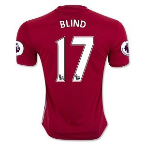 16-17 Manchester United Football Shirt Home BLIND #17 Cheap Replica Jersey [G216]