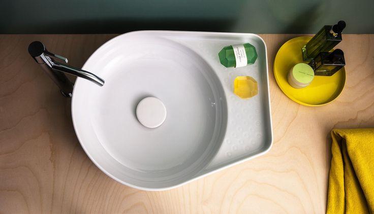 ODÖRFER präsentiert  Waschbecken aus exta dünnwandiger Saphirkeramik