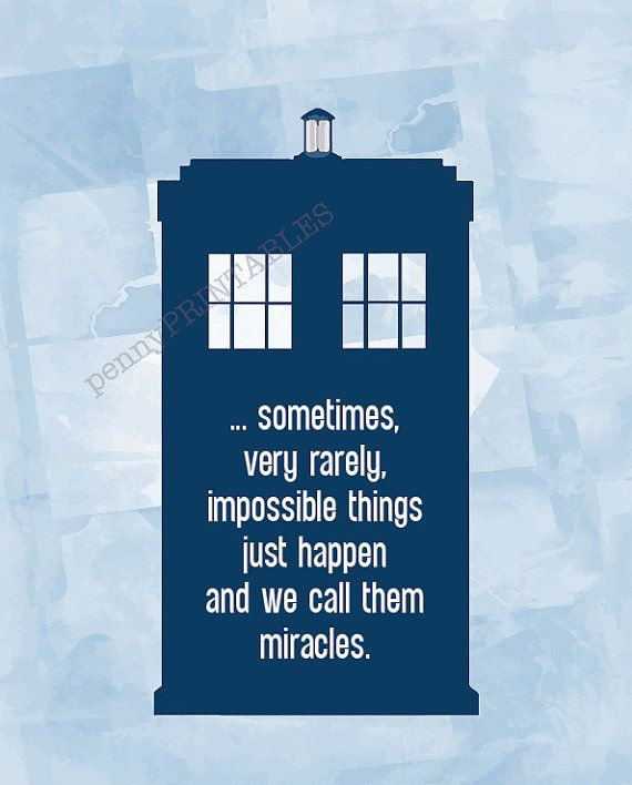 Doctor Who Tardis Poster with Quote   8x10 Instant Download Printable   11th Doctor   Matt Smith   Vector Watercolour Style   ...sometimes, very