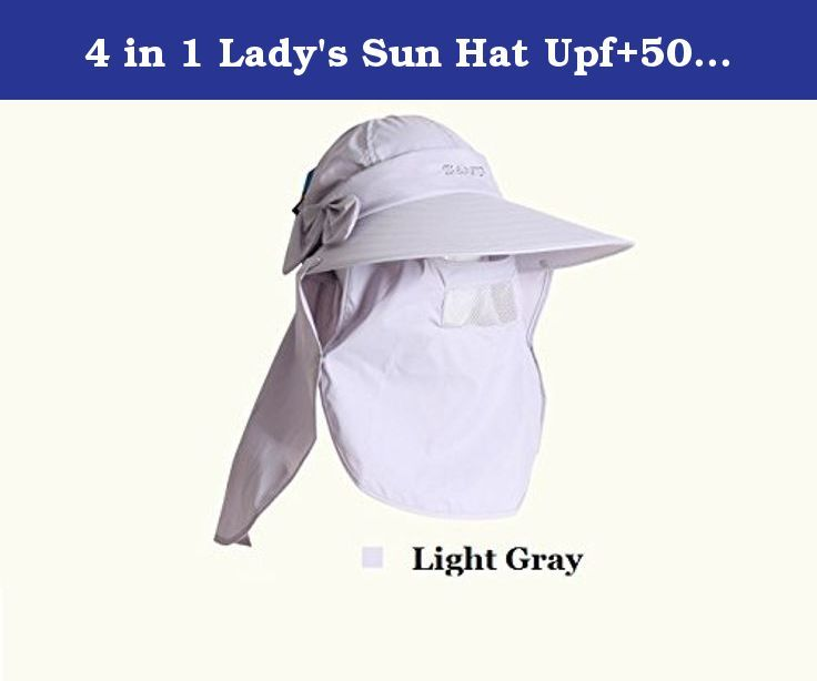 4 in 1 Lady's Sun Hat Upf+50 Bucket Hat (Visor, Cap, Neck and face cover) (Light gray). Model: 4 in 1 Lady's Sun Hat Color: Light BLue, Purple, Pink, Slight Blue Head circumference: appox. 60cm (Normal head) Feature: Easy and Convenient to use Summer bucket hat with neck and face cover Full protection from face to neck to protect your skin out of sum harm Soft, Warn and Comfortable Materials Suitable for casual, holiday, summer beach activities, out with friends Insurance: If you would…
