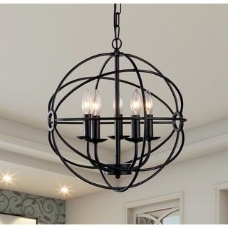 Warehouse Of Tiffany Meila 5 Light Black Spherical Chandelier Up Your Home With The Unique Style This