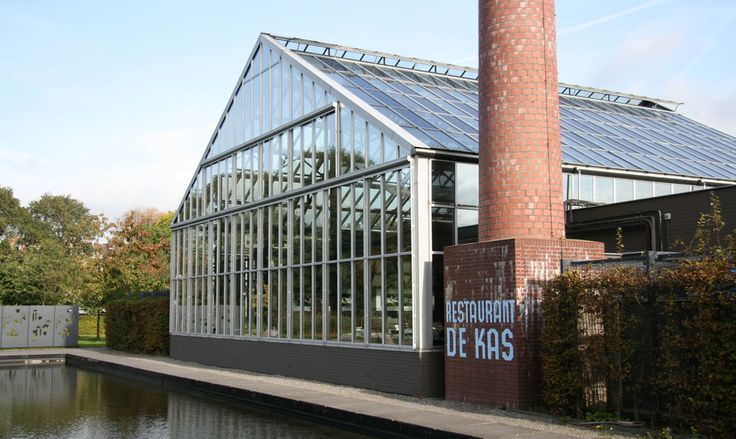 DE KAS - the restaurant in Amsterdam is an redecorated greenhouse and serves dishes of local ingredients.